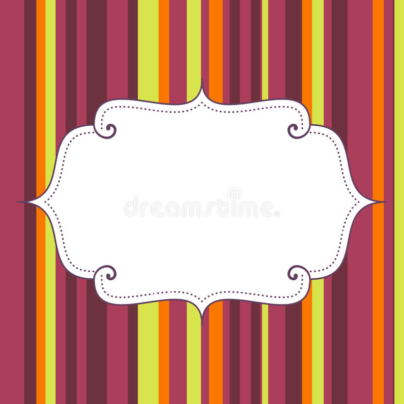 Empty birthday poster on seamless stripes pattern background royalty free illustration