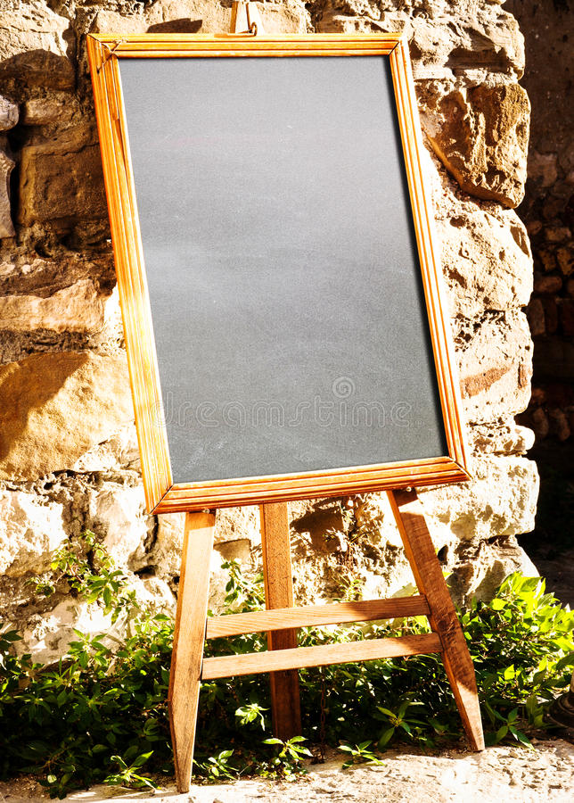 Download Empty black board stock photo. Image of copy, outdoors - 28496486