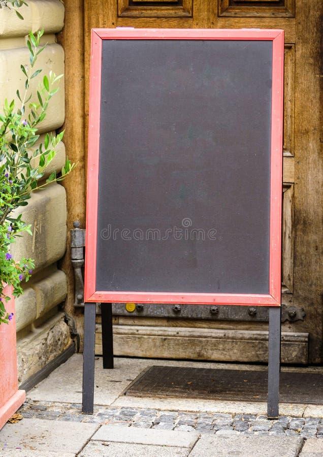 Empty black board