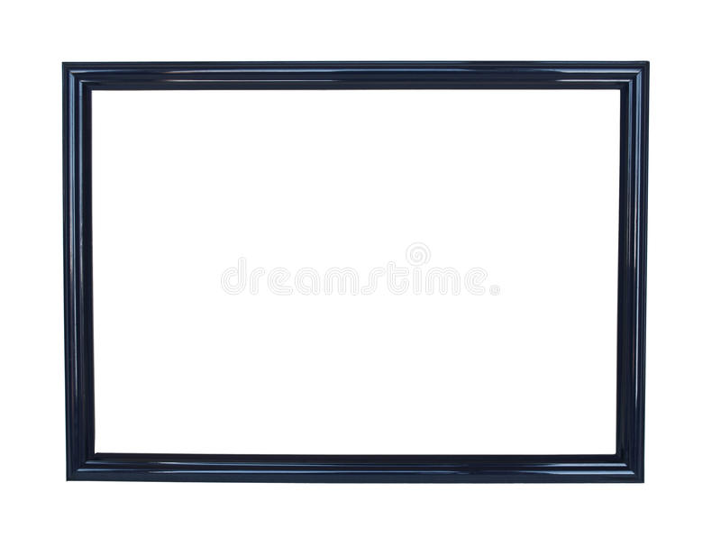 Empty black frame isolated royalty free stock photo