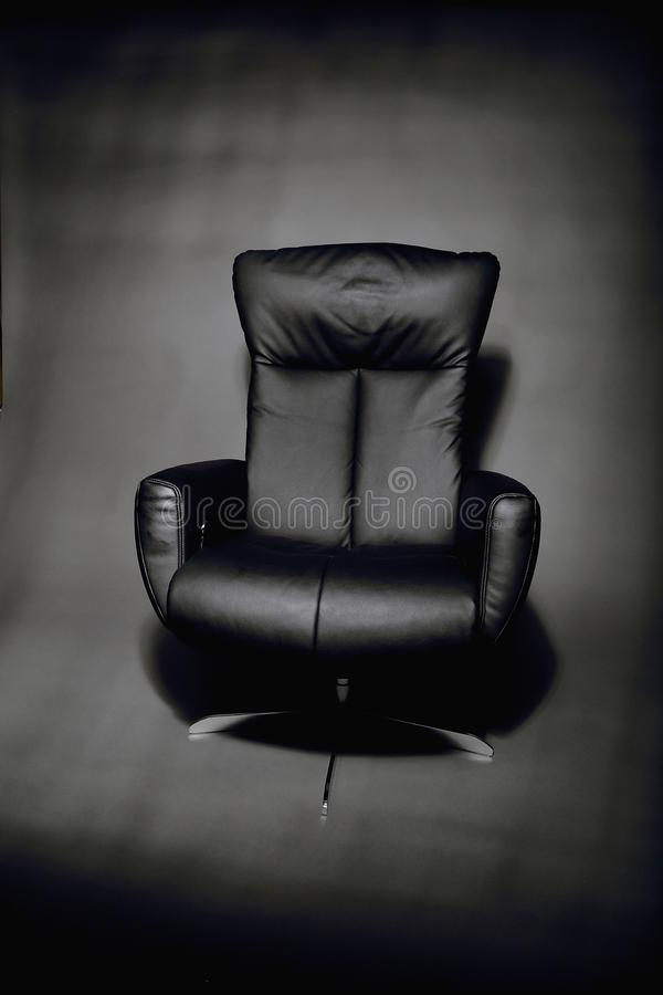 Download Empty, Black Leather Executive Chair Stock Photo - Image: 83700042