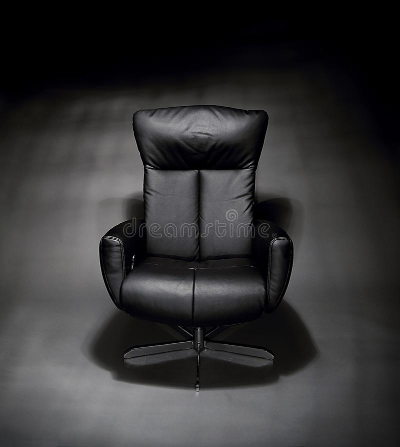 Download Empty, Black Leather Executive Chair Stock Image - Image: 83700089