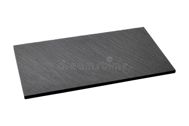 Empty black slate plate isolated royalty free stock photos