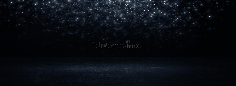 Empty black studio room. Dark background. Abstract dark empty studio room texture. royalty free stock photos