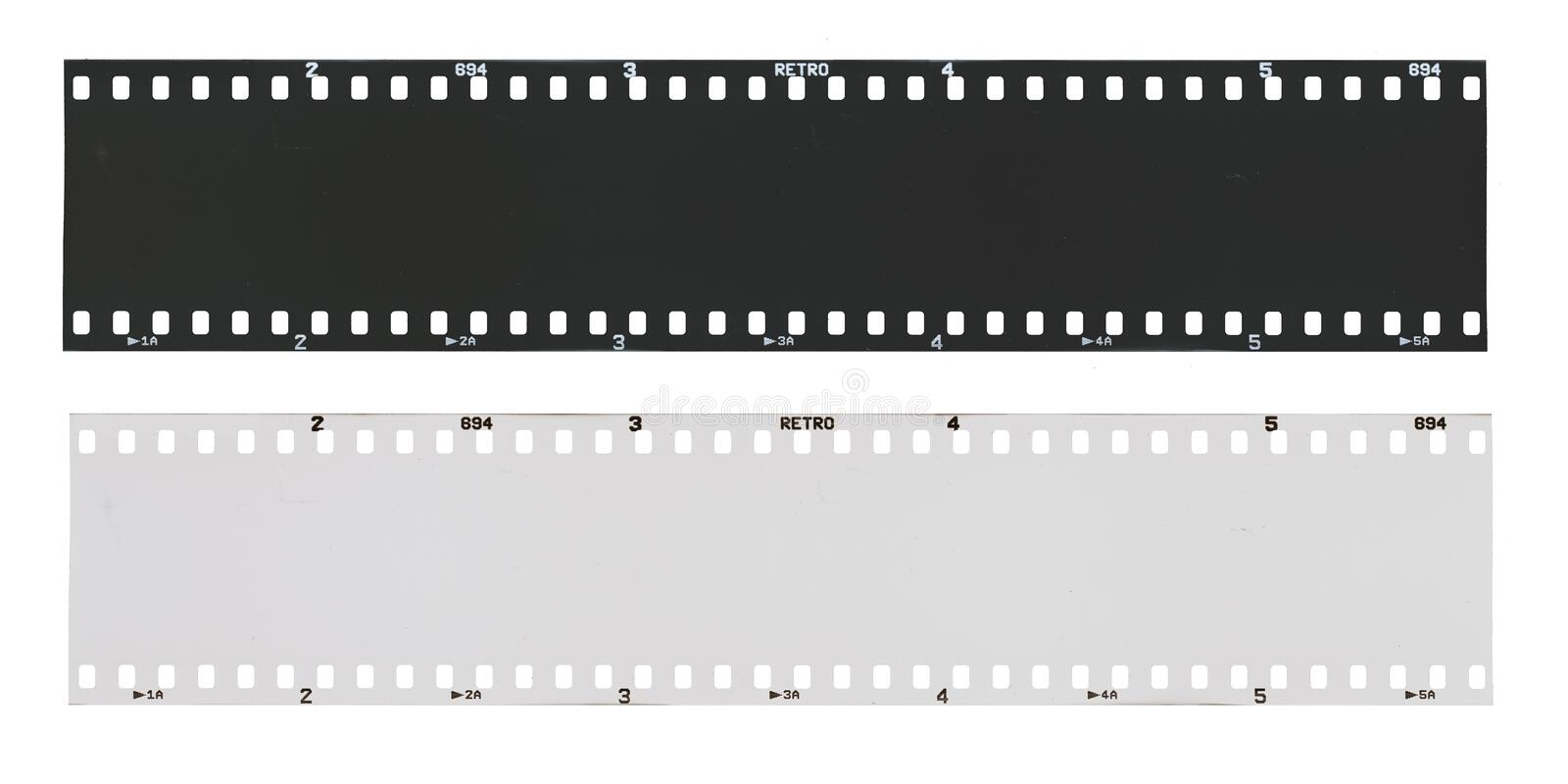 Empty black and white film strip. royalty free stock photo