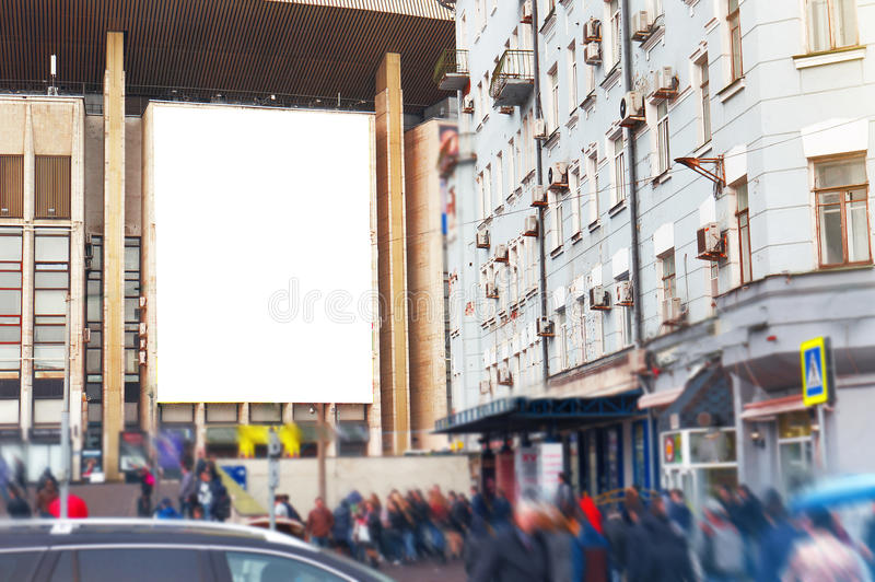 Empty blank billboard, poster, mock up, at street, for your lo. Go, product, design royalty free stock images