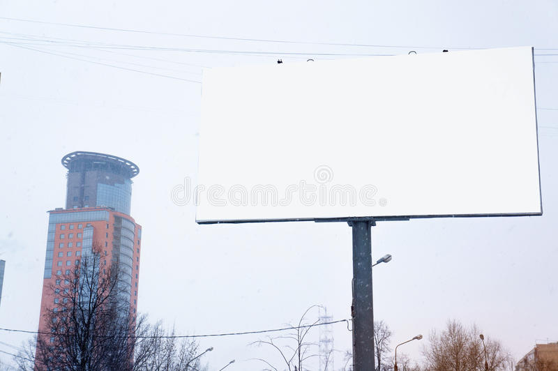 Empty blank billboard, poster, mock up, at street, for your lo stock image