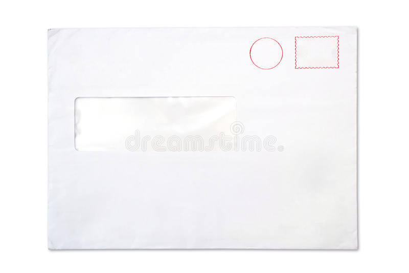 Download Empty Blank Envelope With A Window Stock Photo - Image of postage, mail: 39507792
