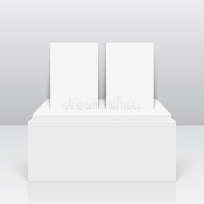 Empty blank on podium royalty free illustration