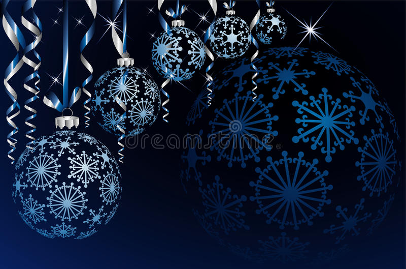 Empty Blue Balls Royalty Free Stock Images