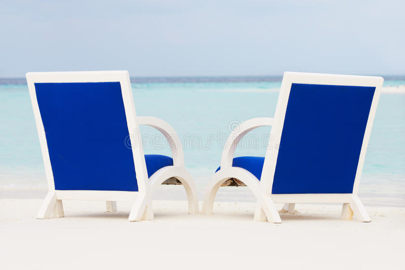 Download Empty Chairs On Beautiful Tropical Beach Stock Photo - Image: 30213202