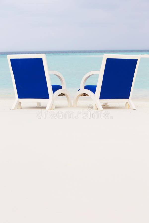 Download Empty Chairs On Beautiful Tropical Beach Stock Image - Image: 30213225