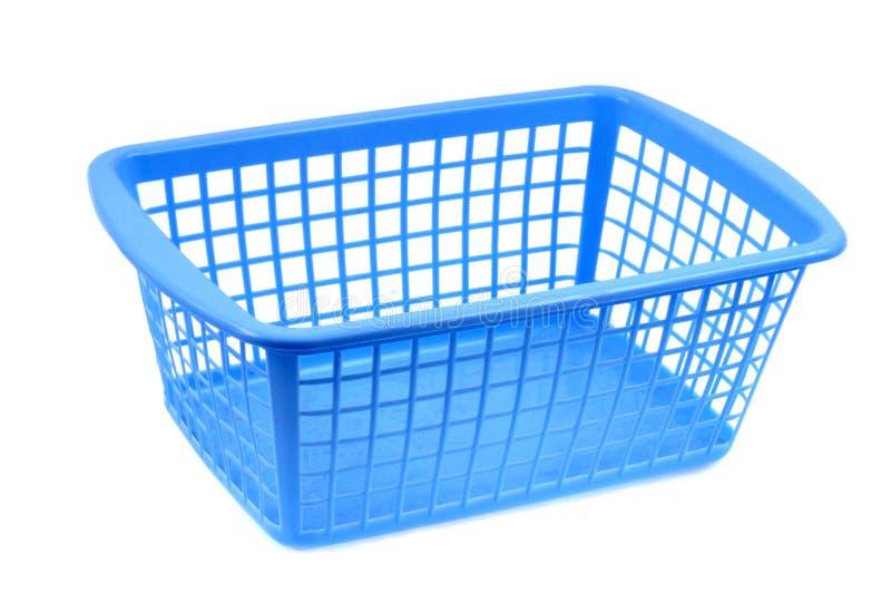 Blue plastic basket royalty free illustration