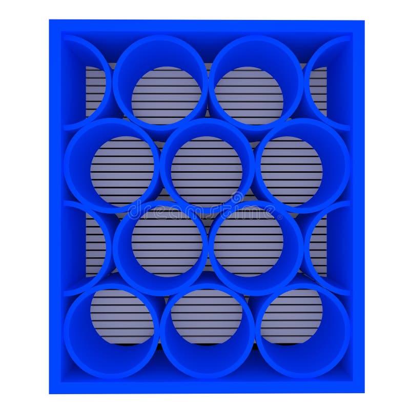 Download Empty blue shelves rounded stock illustration. Illustration of house - 25570295