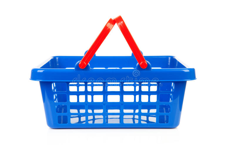 Download Empty blue shopping basket stock image. Image of cart - 16026797