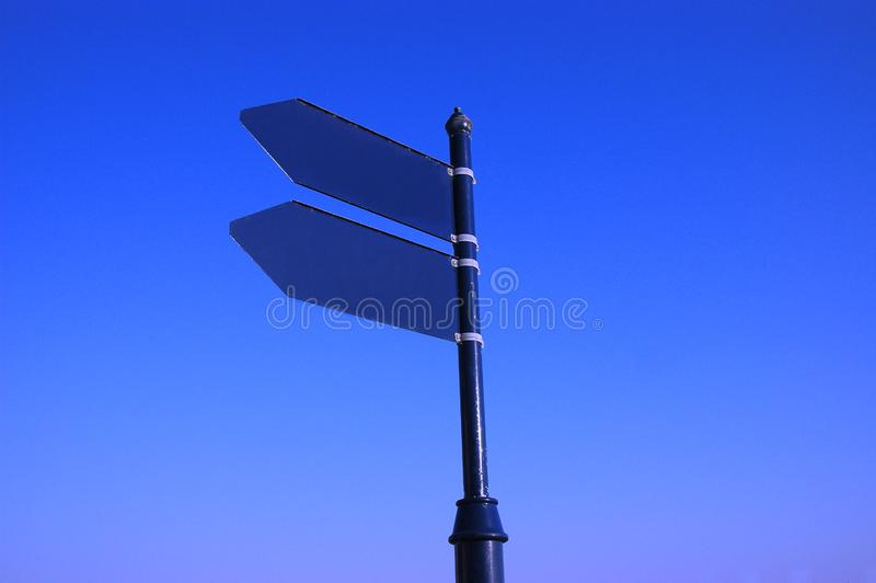 Empty blue sign royalty free stock image
