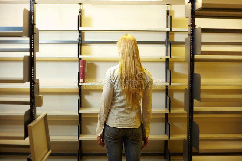Download Empty book shelves stock photo. Image of competence, pupil - 11860226
