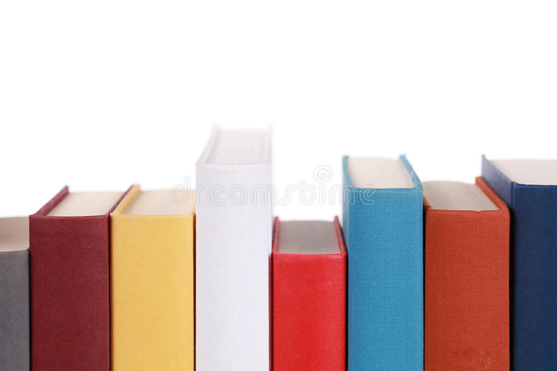 Empty book spines. With lots of copyspace for your own text royalty free stock image