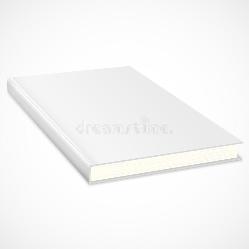 Download Empty Book With White Cover Stock Vector - Illustration: 26274189