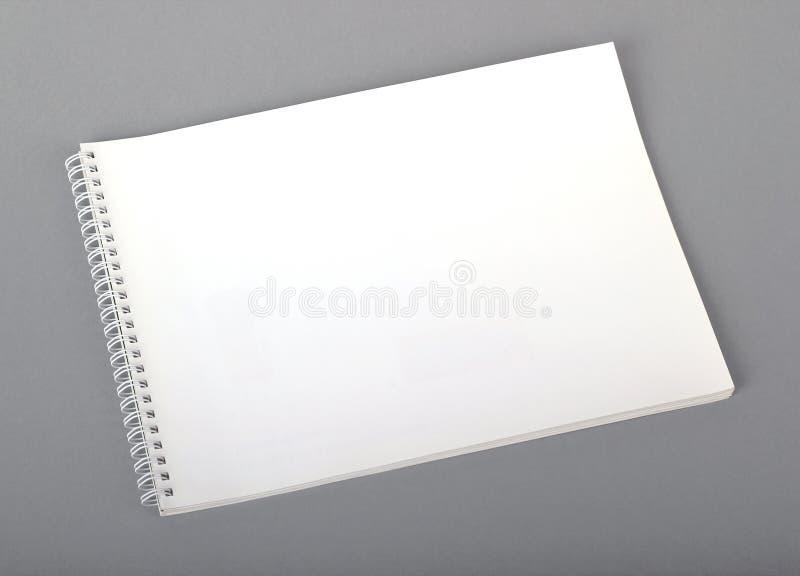 Empty booklet stock photo