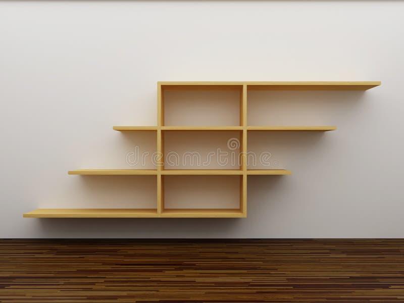 Empty bookshelf royalty free illustration