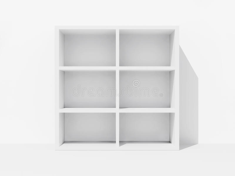 Empty bookshelf royalty free illustration