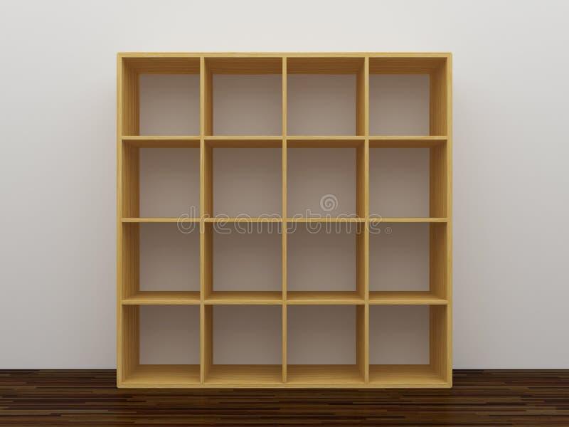 Empty bookshelf stock illustration