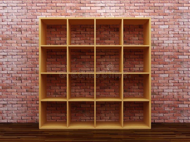 Empty bookshelf royalty free stock photo
