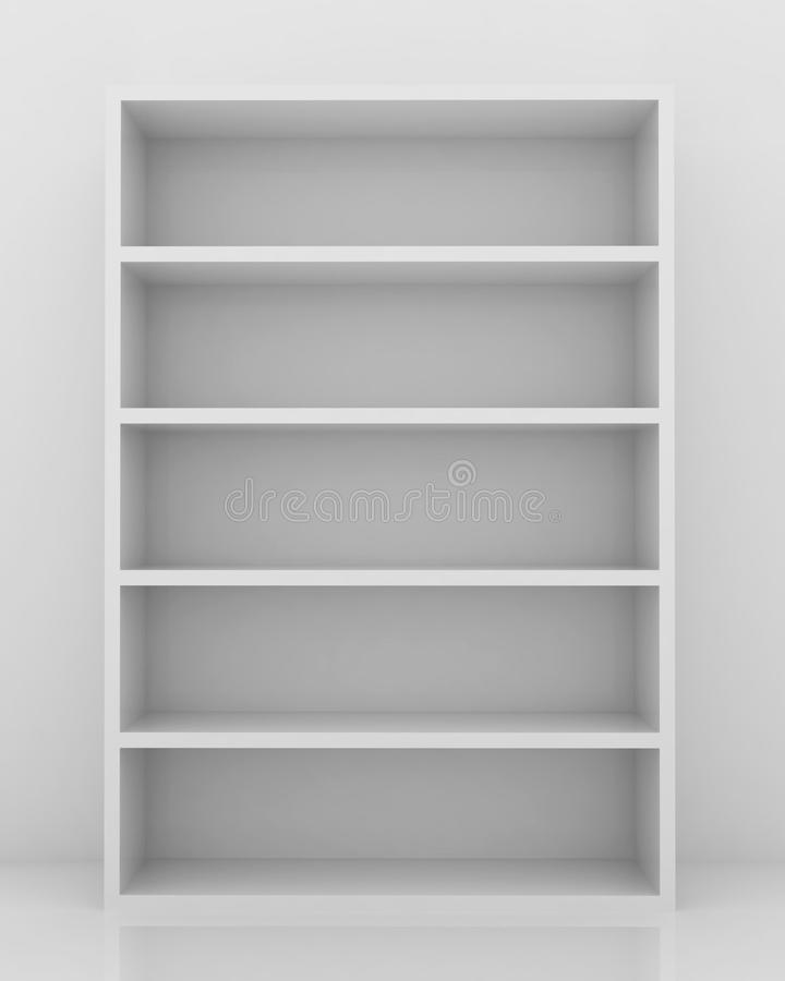 Empty Bookshelf Stock Illustration Image Of Abstract