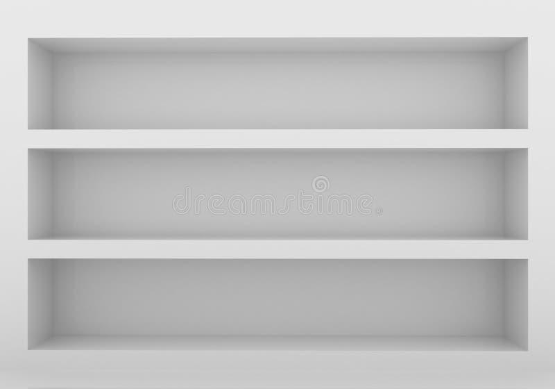 Empty bookshelf. 3d model of an empty bookshelf stock illustration