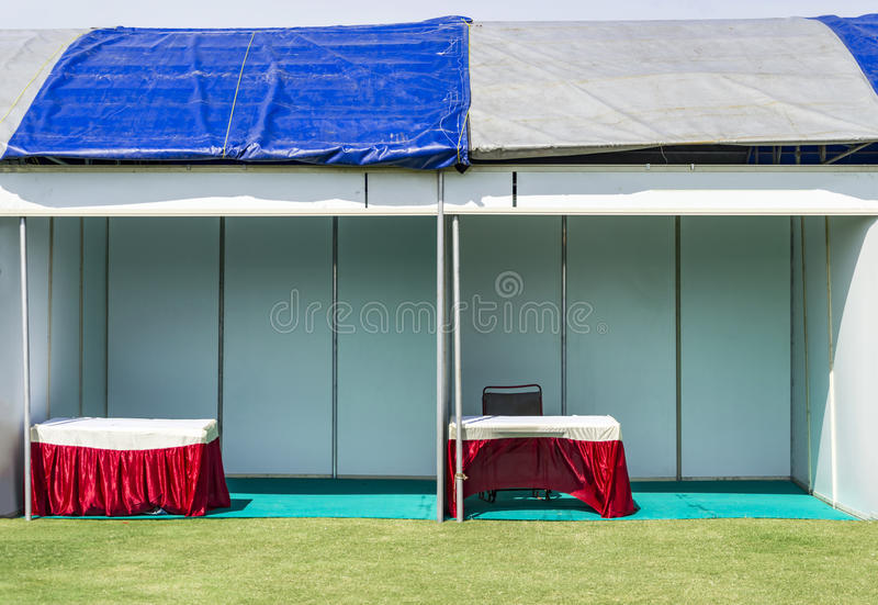 Empty booths. Stalls at trade show stock photography