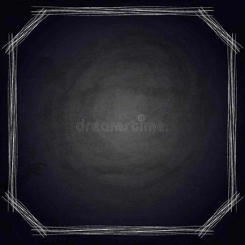 Download Empty Border On Blackboard Chalkboard Background Stock Illustration