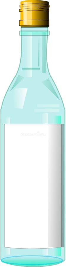 Download Empty bottle stock illustration. Image of bottle, label - 264540
