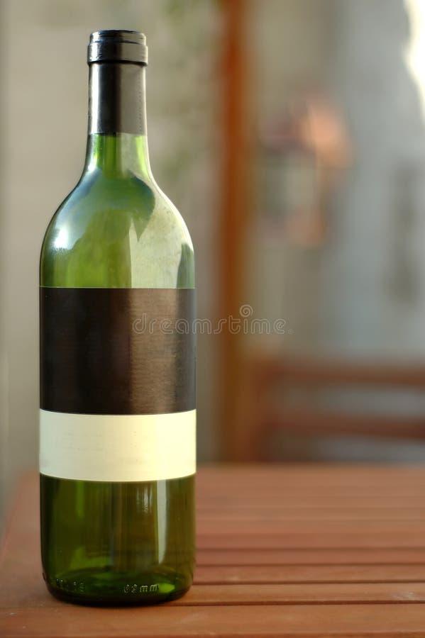 Empty bottle of wine royalty free stock photo