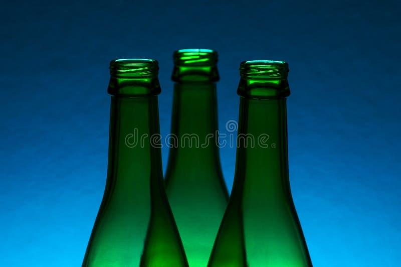 Empty bottles royalty free stock photography