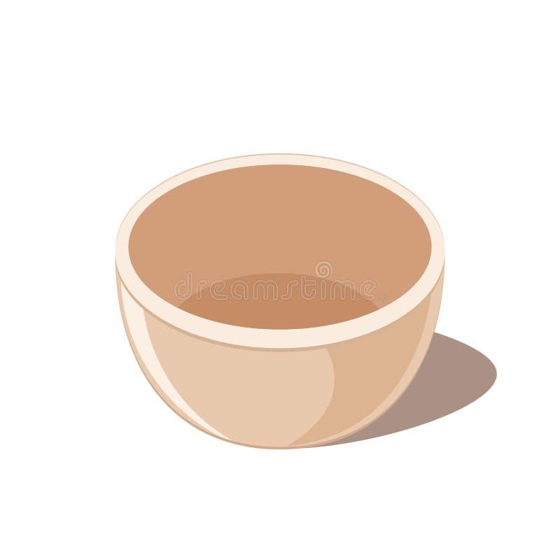 Empty Bowl Icon. Isolated on white background. Vector illustration flat design stock illustration