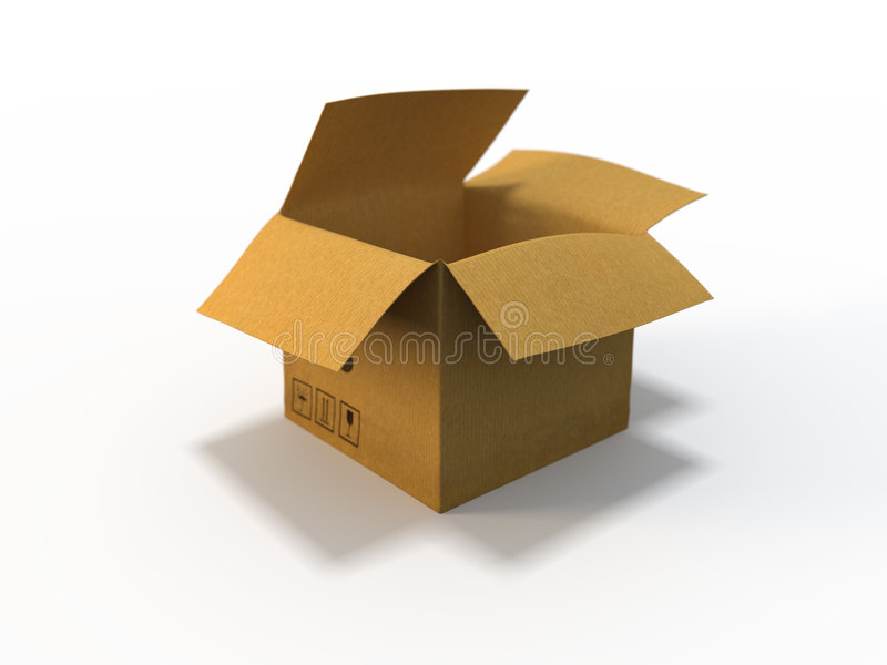 Empty box vector illustration