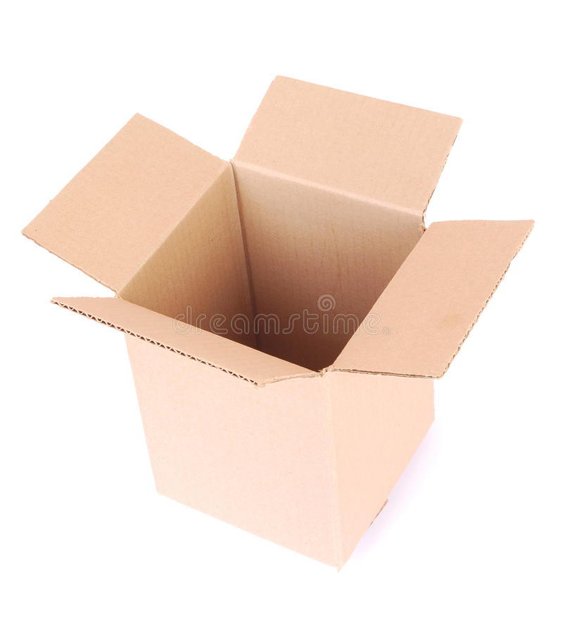 Download Box empty open on white stock image. Image of packages - 25252957