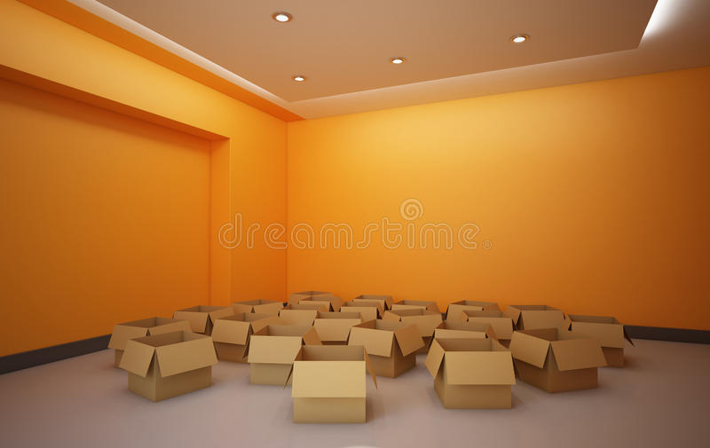 Download Empty Boxes stock illustration. Image of open, backgrounds - 26720859