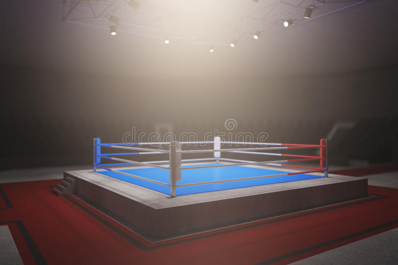 Empty boxing ring royalty free illustration