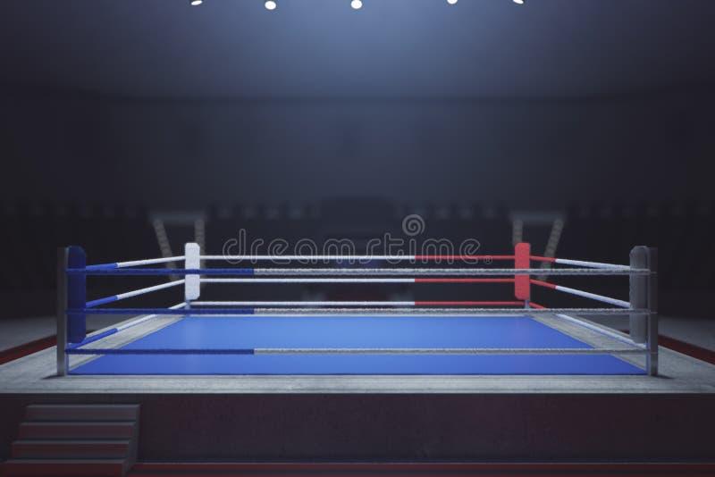 Empty boxing ring vector illustration