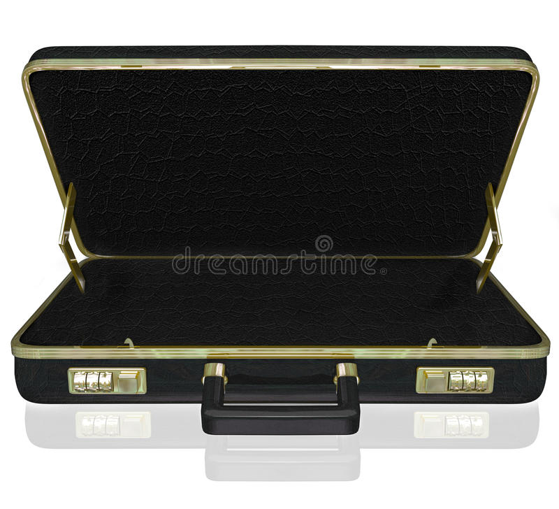Download Empty Briefcase Copyspace Your Contents Inside Stock Illustration - Illustration of attach, empty: 33298843
