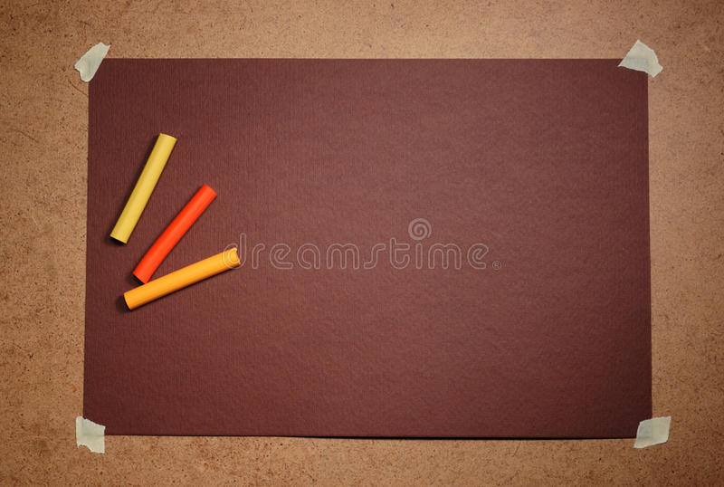 Empty brown cardboard background and paste royalty free stock images