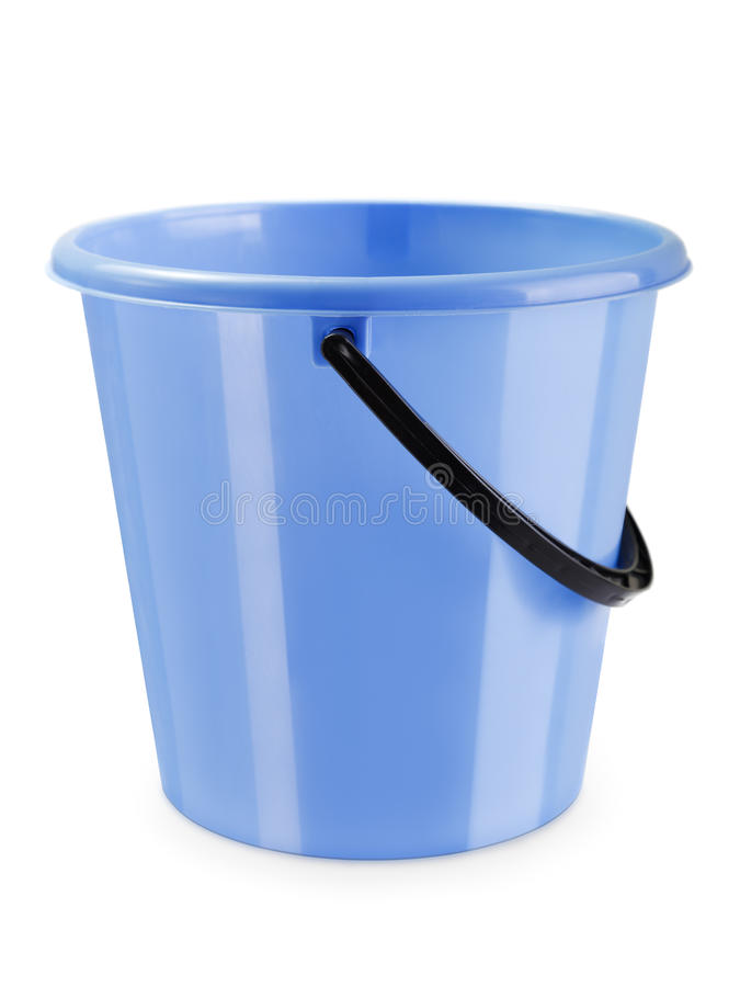 Download Empty bucket isolated stock photo. Image of handle, container - 17422292