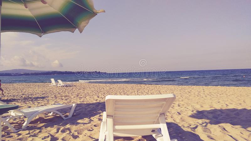 Empty Bulgarian beach royalty free stock photos