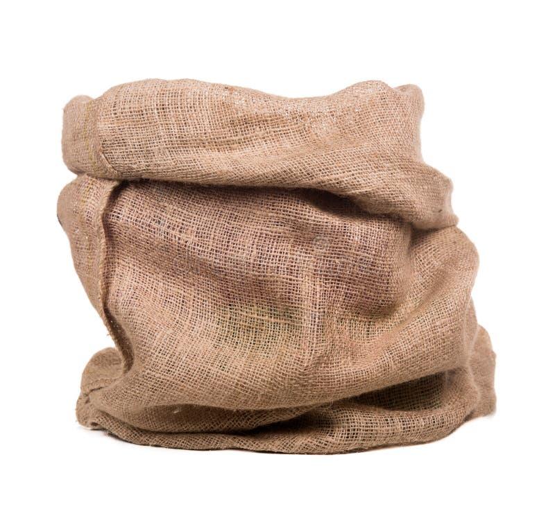 Empty burlap bag or sack royalty free stock photos