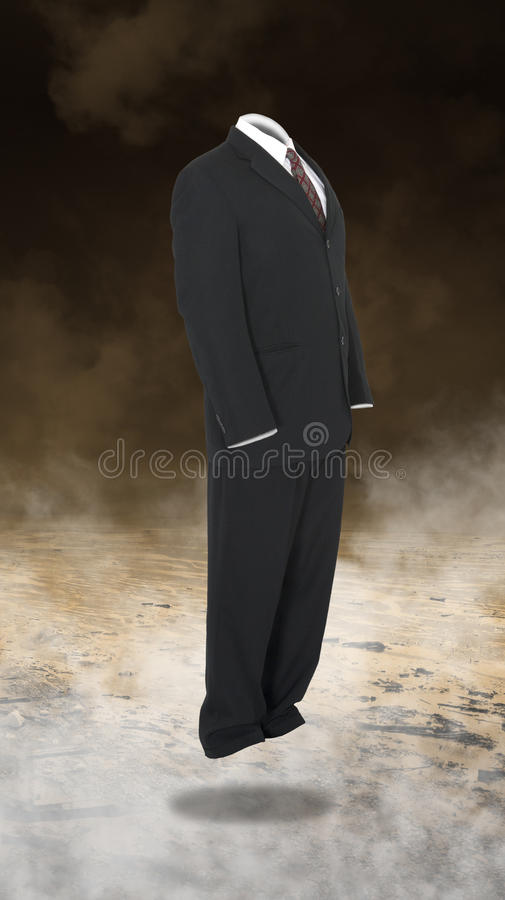 Empty Business Suit, Sales, Marketing. Surreal empty business suit abstract concept for leadership, management, sales, and marketing stock photo
