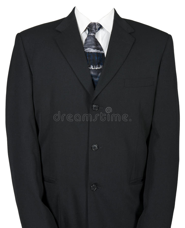 Empty Businessman Suit and Tie Isolated on White royalty free stock photography
