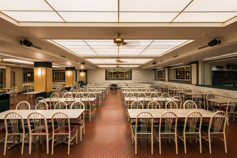 Empty cafeteria stock photo