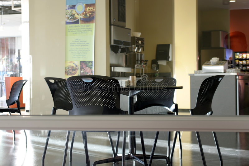 Empty Cafeteria stock photography